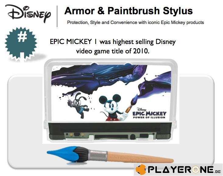 Epic Mickey 3DS Armor With Brush Stylus_1