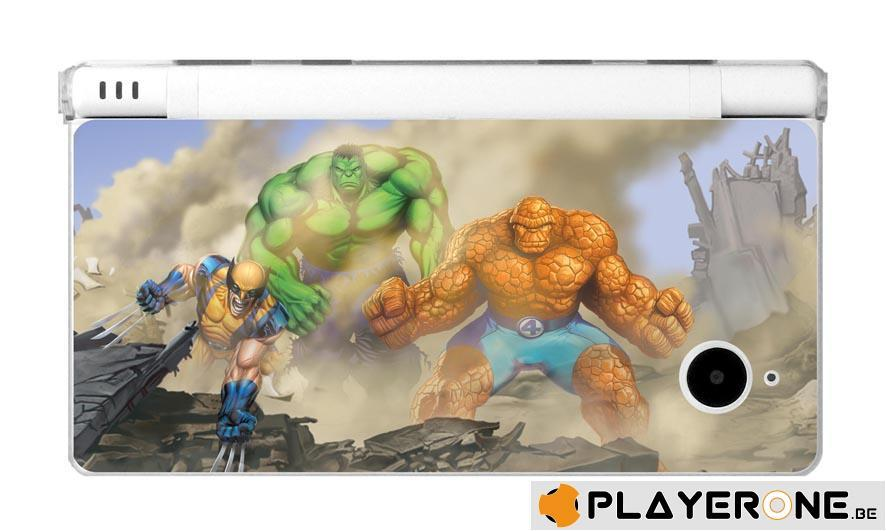 Polycarbonate Case + 4 Marvel Character Graphi Card DSI_6