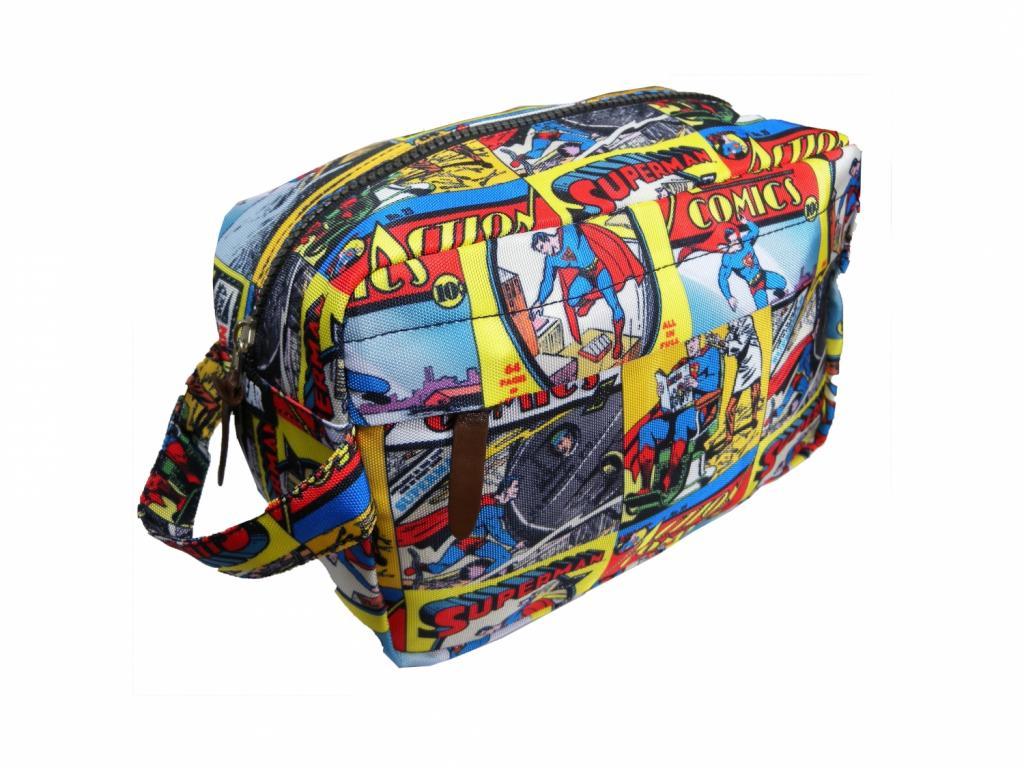 SUPERMAN - WASH BAG - Superman Comic Strip
