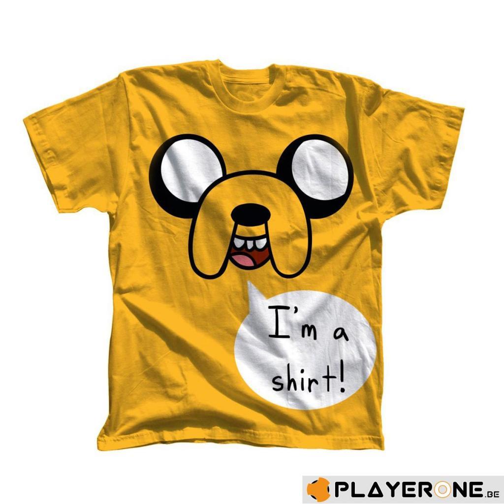 ADVENTURE TIME - T-Shirt I M A SHIRT Yellow (L)
