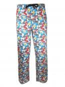 SONIC - Pantalon Pyjama - Black and White (XXL)