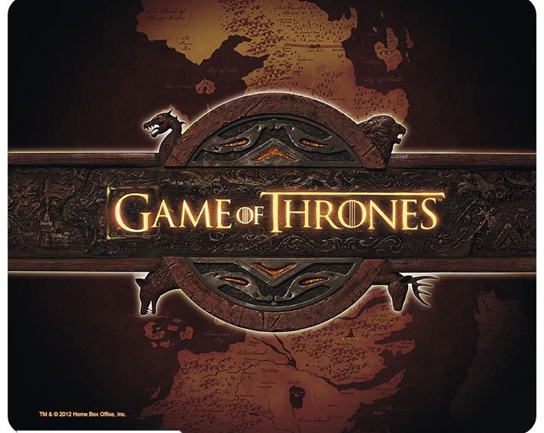 GAME OF THRONES - Tapis de Souris LOGO/CARTE