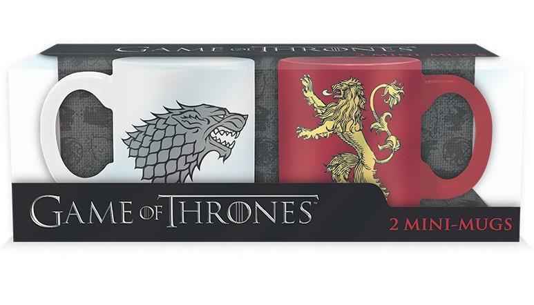GAME OF THRONES - Set 2 Mini-Mugs - Stark & Lannister_1