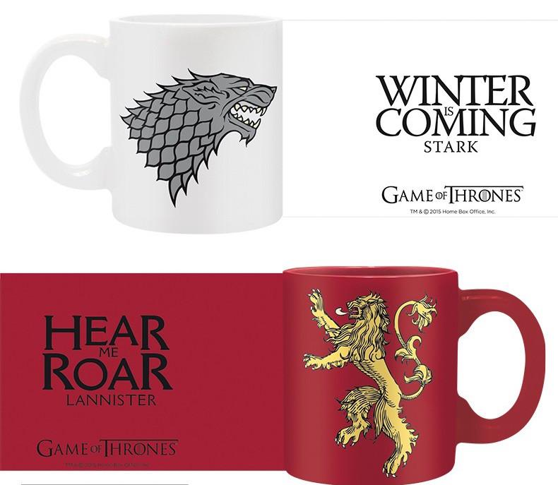 GAME OF THRONES - Set 2 Mini-Mugs - Stark & Lannister_3