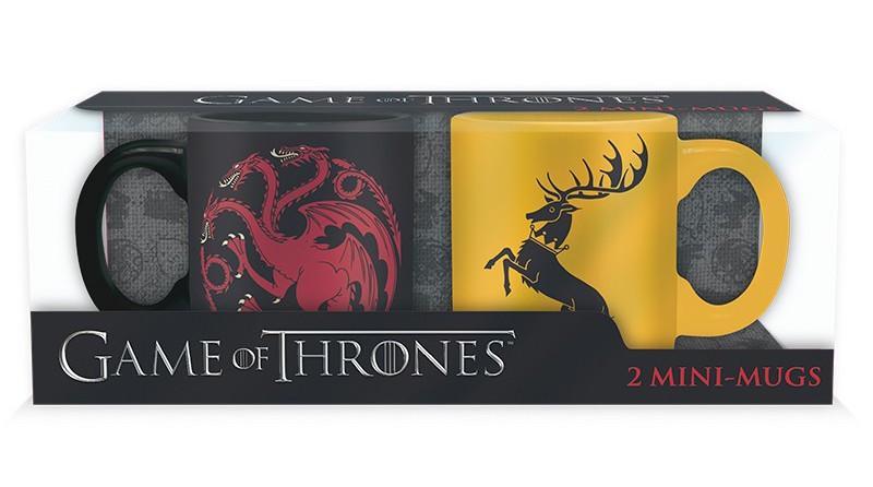 GAME OF THRONES - Set 2 Mini-Mugs - Targaryen & Baratheon_1