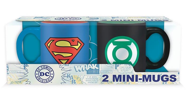 DC COMICS - Set 2 Mini-Mugs - Superman & Green Lantern
