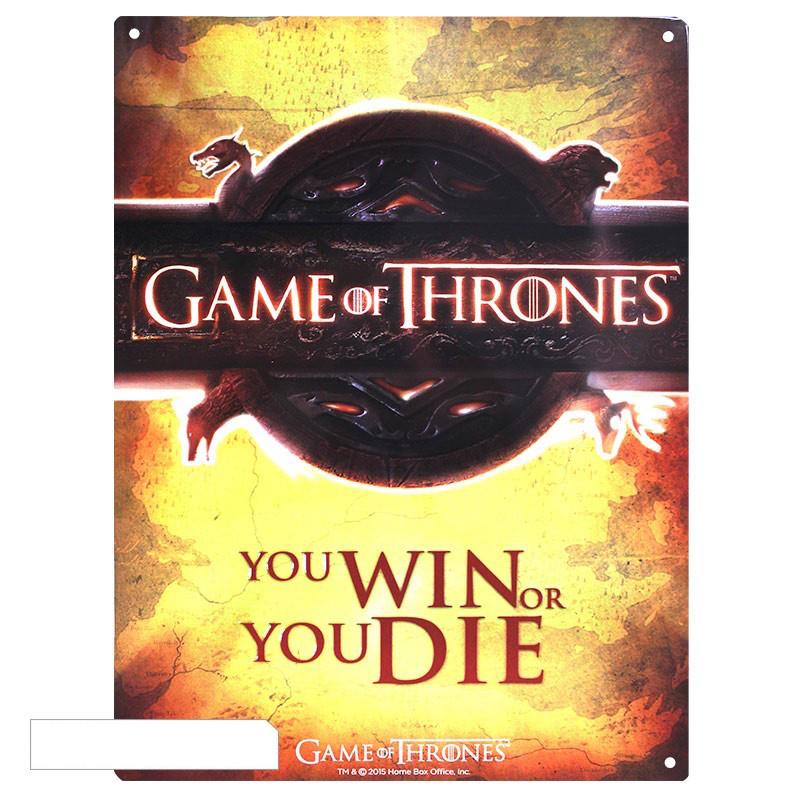 GAME OF THRONES - Plaque Metal 28 X 38 - Opening Logo