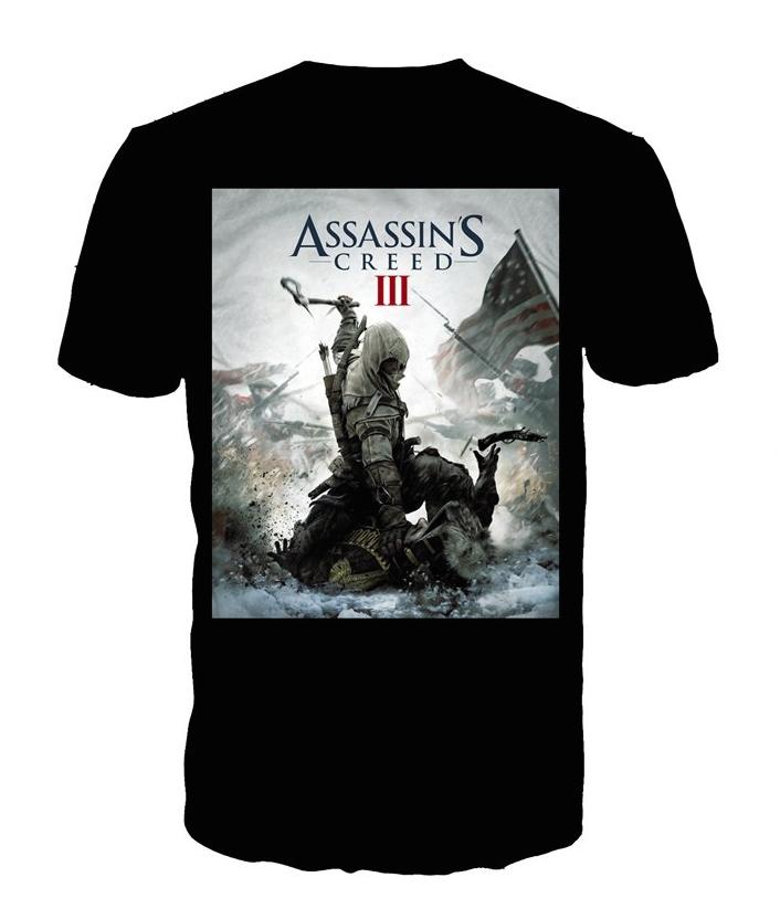 ASSASSIN'S CREED 3 - T-Shirt Black - Game Cover (L)