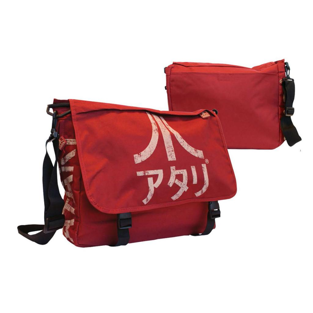 ATARI - Messenger Bag Dark Red With Japanese Logo