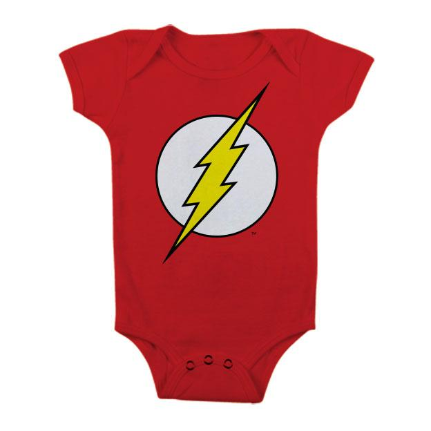 FLASH - Baby Body Logo - Red (12 Month)