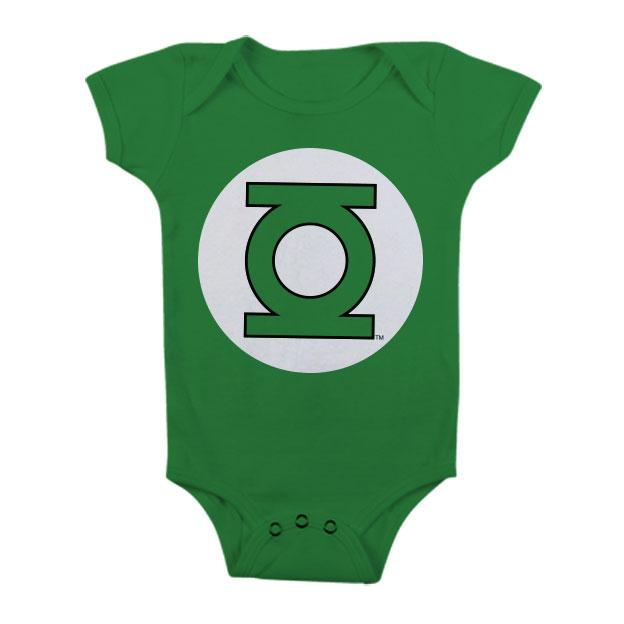 GREEN LANTERN - Baby Body Logo - Green (12 Month)
