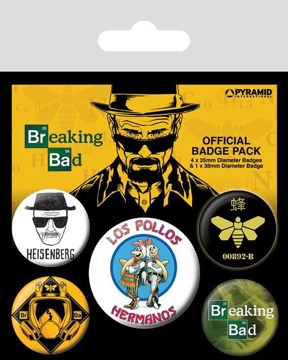 BREAKING BAD - Pack 5 Badges - Los Pollos Hermanos