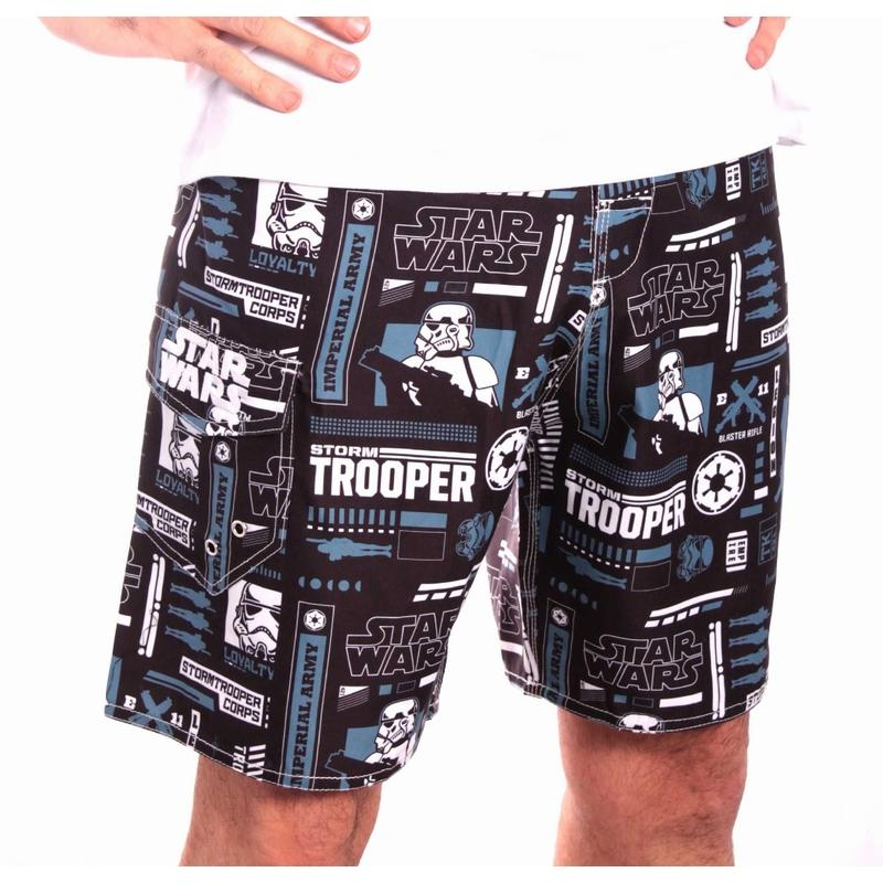 STAR WARS - Short de Bain - All Over Stormtrooper (S)_1