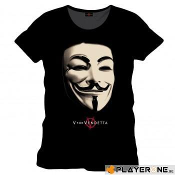 VENDETTA - T-Shirt Anonymous Black (S)