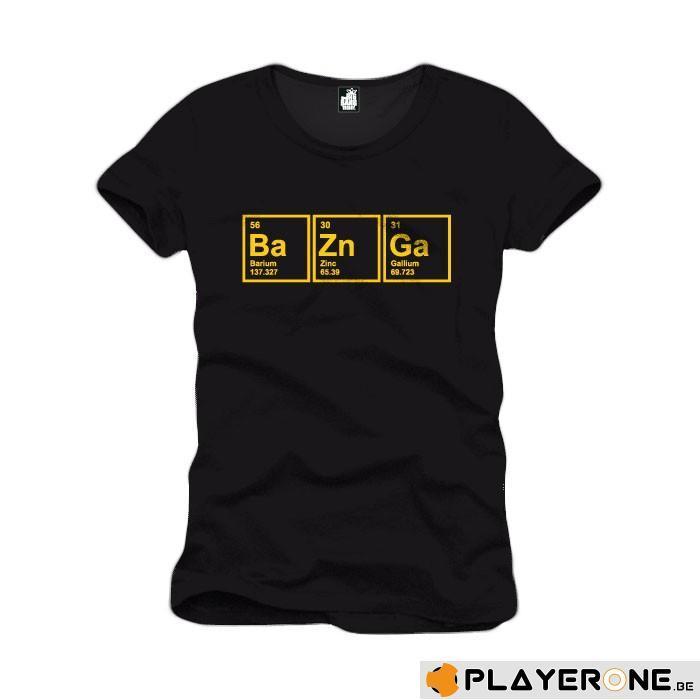 BIG BANG THEORY - T-Shirt Ba Zn Ga Black (L)