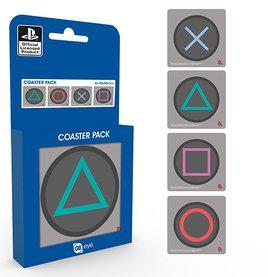 PLAYSTATION - Pack de 4 Dessous de Verre - Buttons