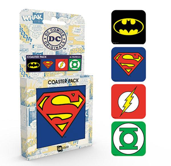 DC COMICS - Pack de 4 Dessous de Verre - Logos_2