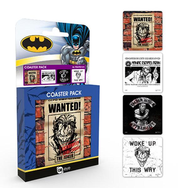 DC COMICS - Pack de 4 Dessous de Verre - Joker
