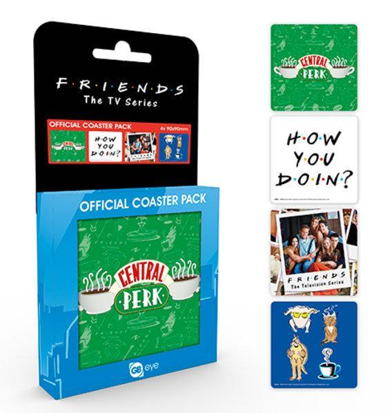FRIENDS - Pack de 4 Dessous de Verre - Mix
