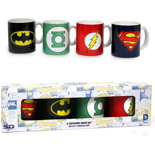 DC COMICS - Set of 4 Espresso Mugs