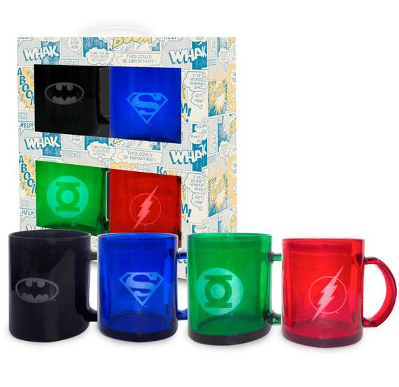 DC COMICS - Set of 4 Translucide Mugs