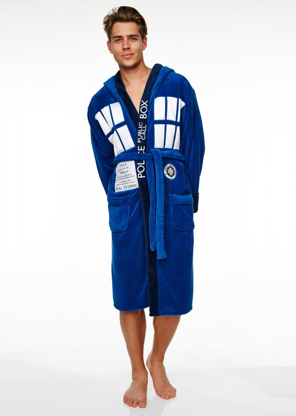 DOCTOR WHO - Peignoir - Tardis - Adulte - Taille Unique