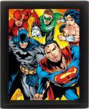 DC COMICS - 3D Lenticular Poster 26X20 - Heroes