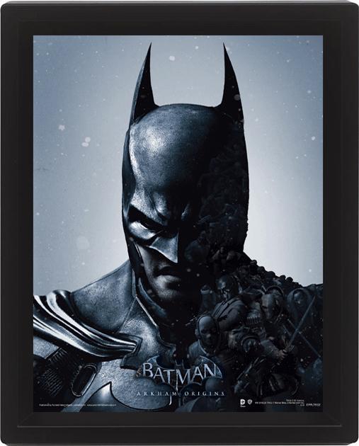 BATMAN - 3D Lenticular Poster 26X20 - Batman/Joker Arkham Origins