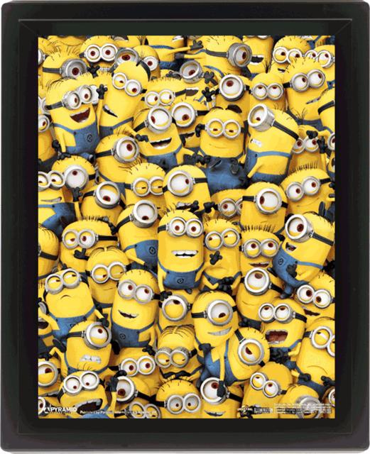 MINIONS - 3D Lenticular Poster 26X20 - Many Minions