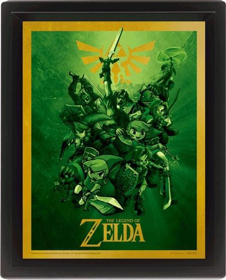 LEGEND OF ZELDA - 3D Lenticular Poster 26X20 - Link_2