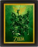 LEGEND OF ZELDA - 3D Lenticular Poster 26X20 - Link