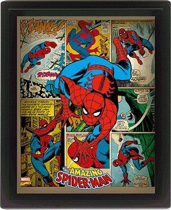 MARVEL RETRO - 3D Lenticular Poster 26X20 - Spider-Man