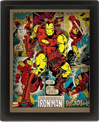 MARVEL RETRO - 3D Lenticular Poster 26X20 - Iron Man