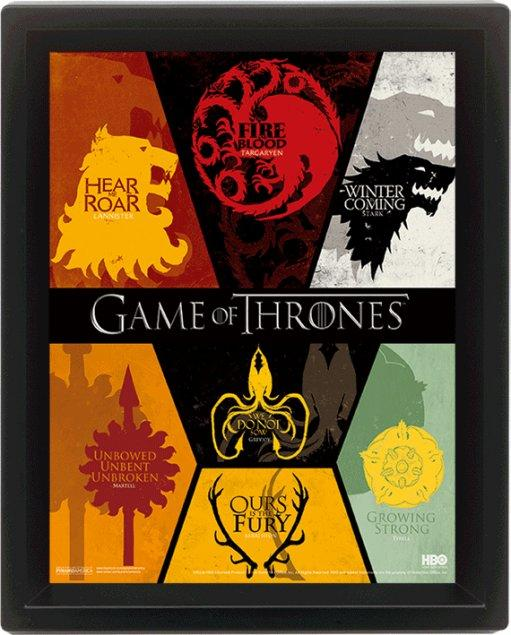 GAME OF THRONES - 3D Lenticular Poster 26X20 - Sigil
