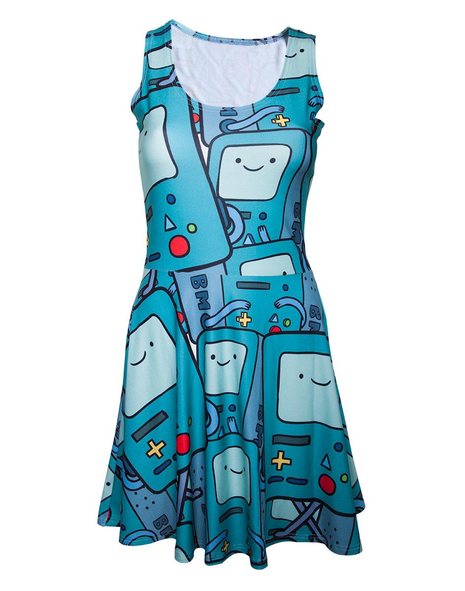 ADVENTURE TIME - Beemo All Over Printed Dress (XS)