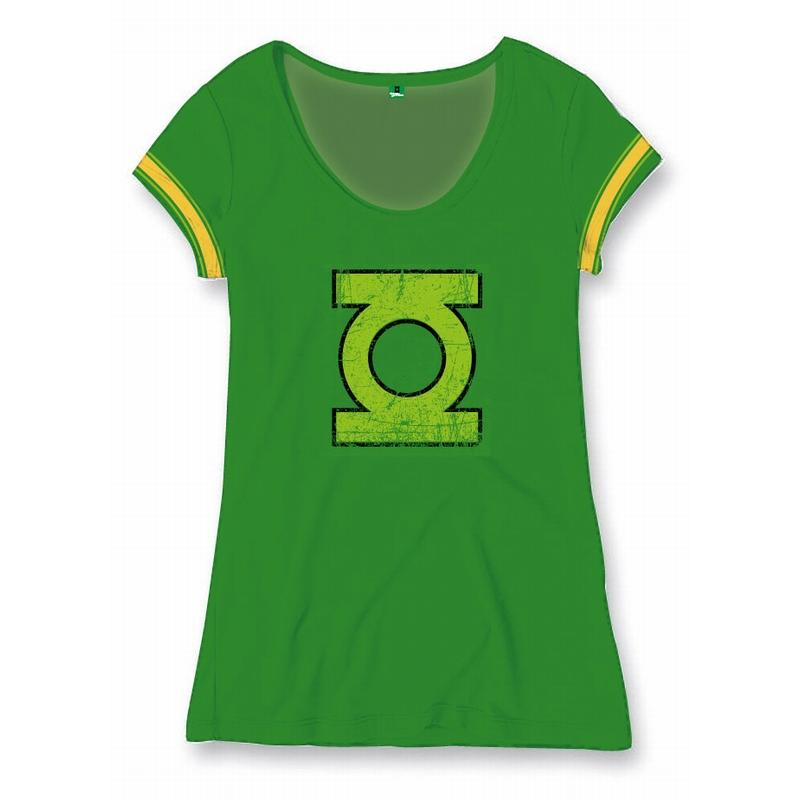 GREEN LANTERN - T-Shirt College Logo - GIRLS (L)