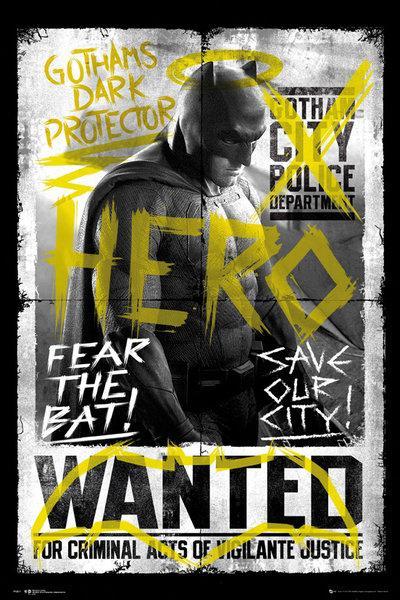 BATMAN VS SUPERMAN - Poster 61X91 - Batman Wanted