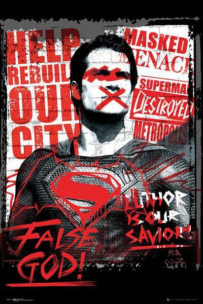 BATMAN VS SUPERMAN - Poster 61X91 - Superman False God