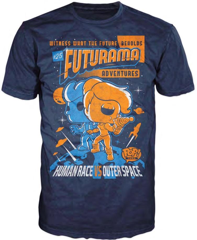 FUTURAMA - T-Shirt POP - Adventure Poster Fry and Leela (L)