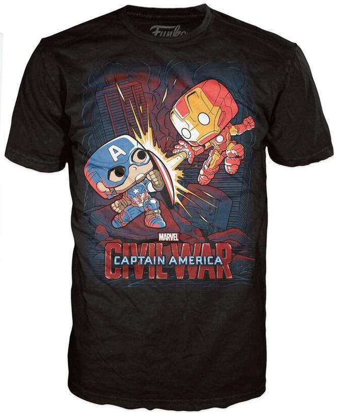 MARVEL CIVIL WAR - T-Shirt POP - Fight (L)