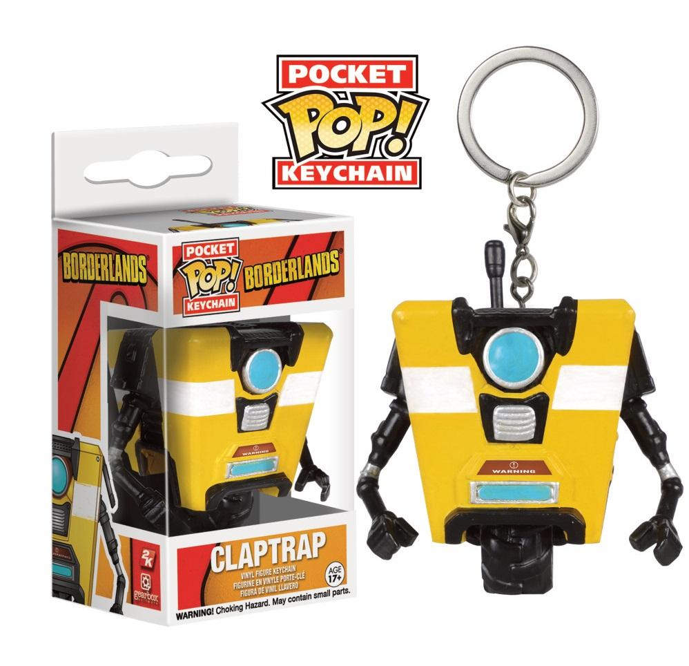 Pocket Pop Keychains : Borderlands - Claptrap