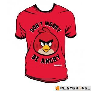 ANGRY BIRDS - T-Shirt Don't Worry Be Angry Red (S)