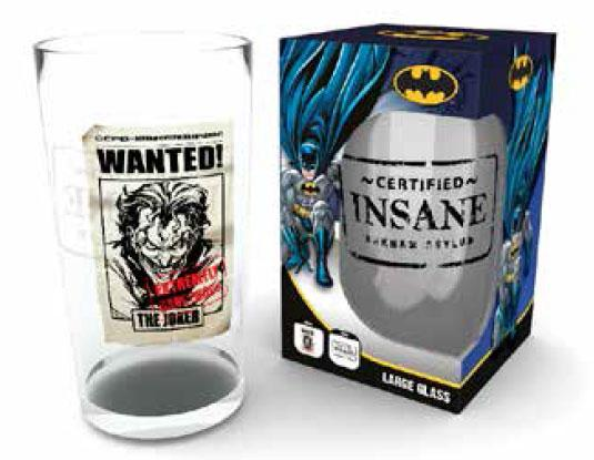 DC COMICS - Large Glasses 500ml - Joker Wanted