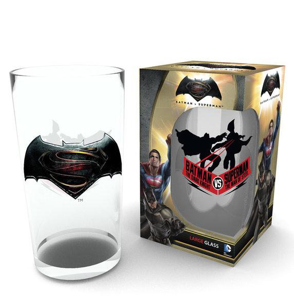 DC COMICS - Large Glasses 500ml - Batman Vs Superman Logo