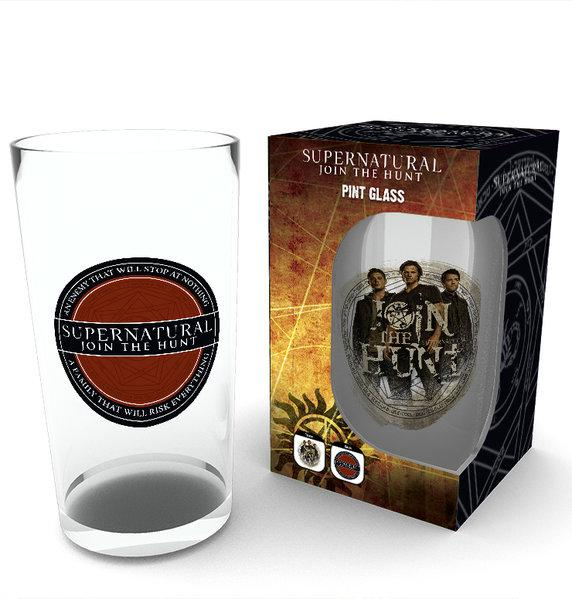 SUPERNATURAL - Large Glasses 500ml - Logo