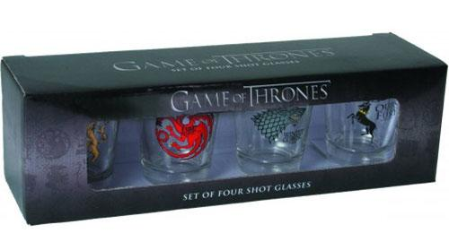 GAME OF THRONES - Set of 4 Shot Glasses