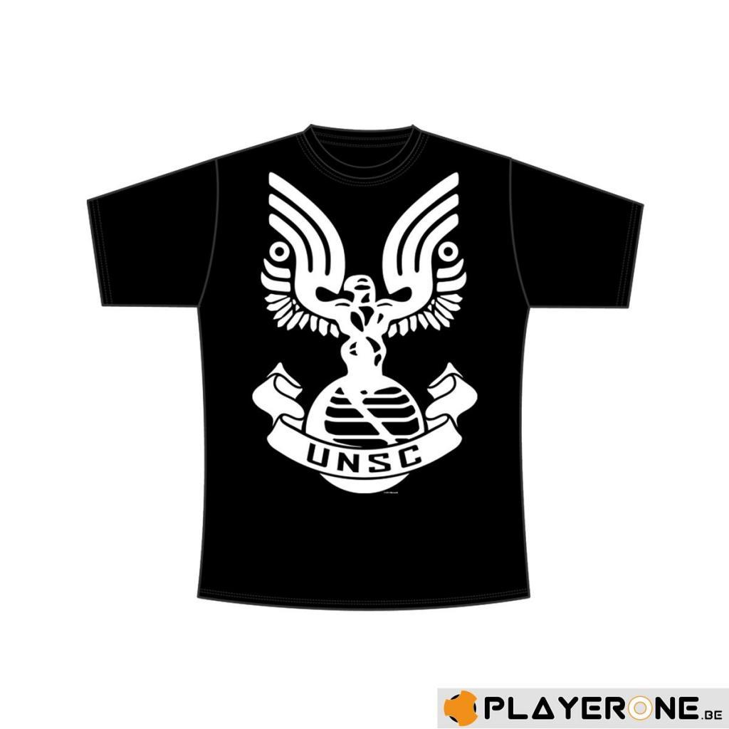 HALO - T-Shirt Black - UNSC Spartan Emblem (S)