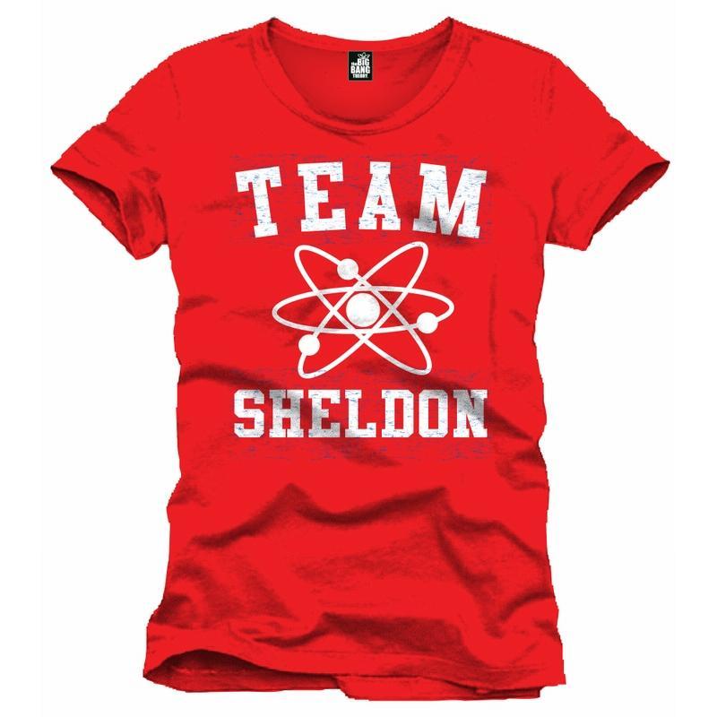 BIG BANG THEORY - T-Shirt Team Sheldon Men Red (XL)