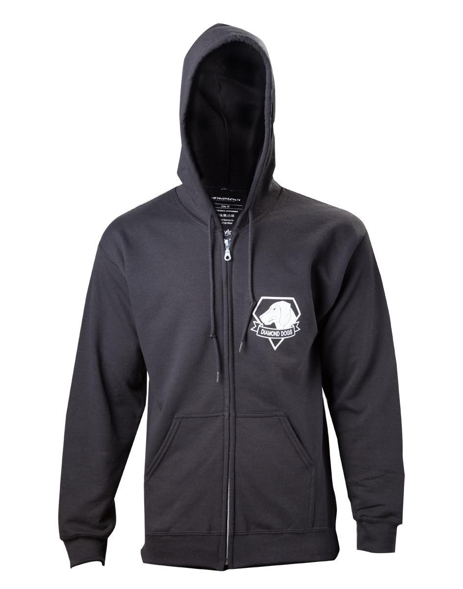 METAL GEAR SOLID V - Black Diamong Dog Zipper Hoodies (S)