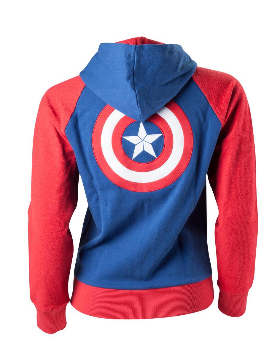 MARVEL - Sweatshirt Captaim America Shield Logo - GIRL (M)